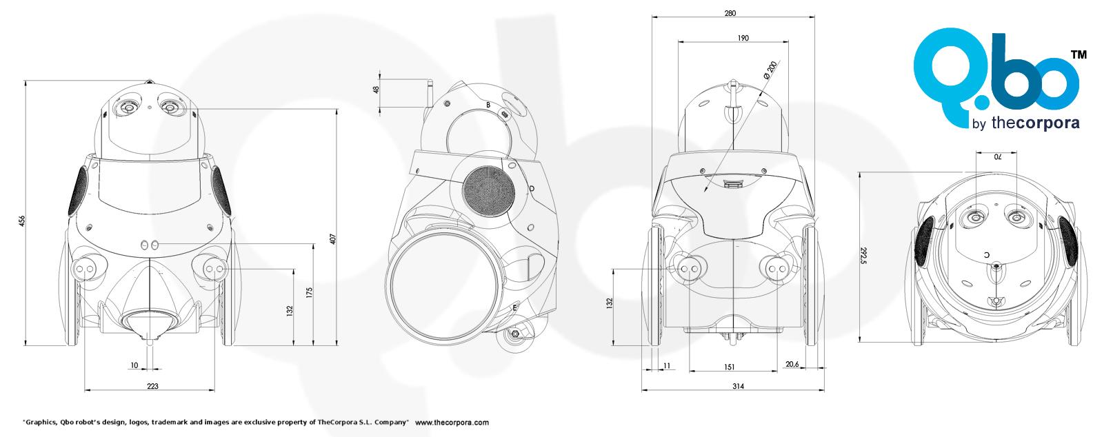 Qbo robot, thecorpora, robot design